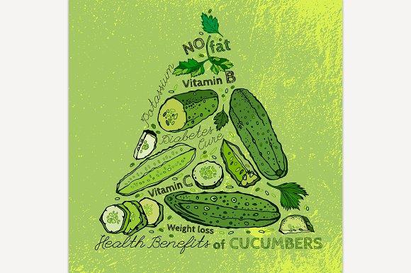 Hand Drawn Cucumber Image