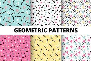 Geometric Memphis Pattern