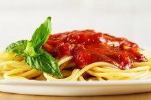 Fresh tasty cooked italian pasta