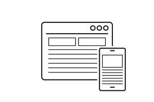 Responsive design line icon