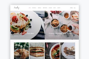 Healey - food & lifestyle WP theme