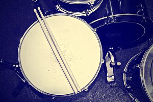 Snare drum with drums. Music concept