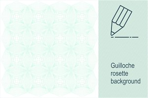 Guilloche rosette background