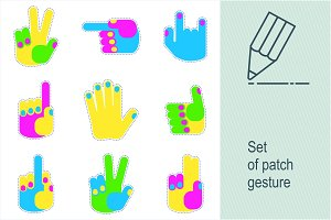 Set of patch gesture