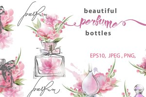Beautiful perfume set