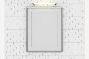 Blank poster Mock up