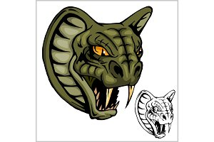 Cobra Head Mascot - vector illustration