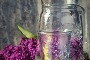 Lilac water with lemon