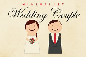 Minimalist Wedding Couple Graphic