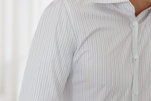 Half of a white shirt on businessman
