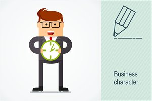 Business character. Plans
