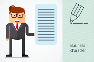 Business character. Presentation