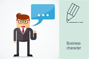 Business character. Quote