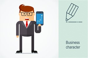 Business character. Tecnology