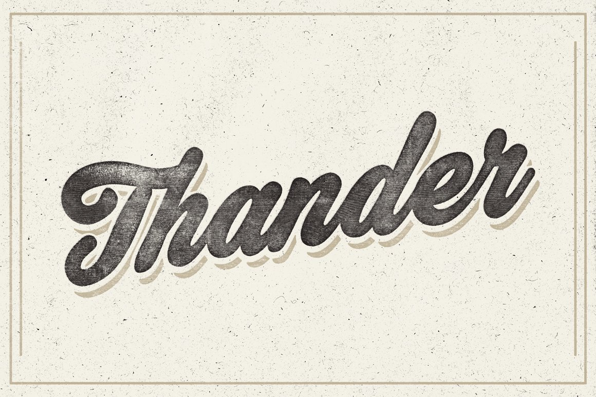 Thander Script Fonts Creative Market