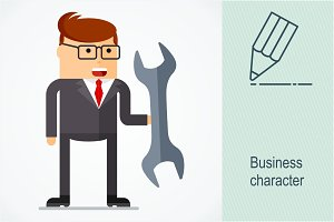 Business character. Tools