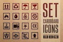 Set Cardboards Icons