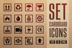 Set Cardboards Icons