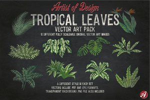 Tropical Leaves Vector Pack