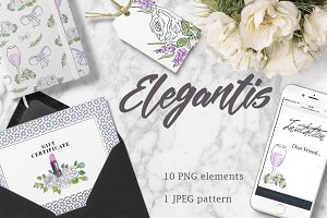 ELEGANTIS watercolor clipart set