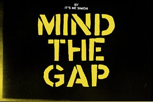 Mind the Gap font