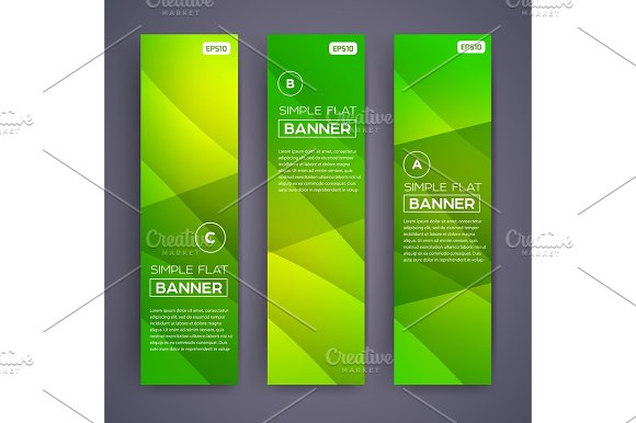 Abstract Banners Vector Eps10 Backgrounds
