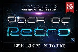 Retro #2 - 17 Text Styles