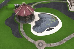 Backyard design ideas aerial