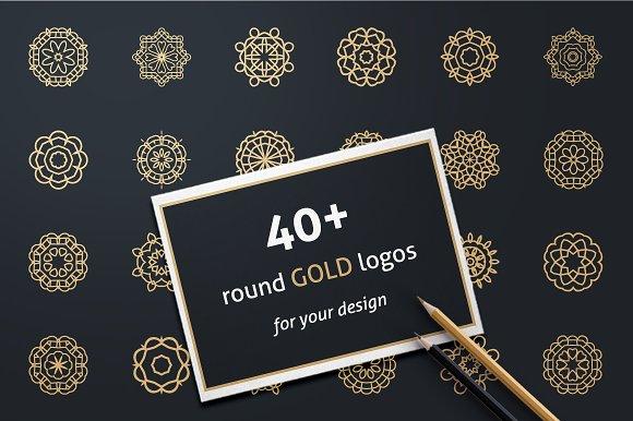 40+ GOLD LOGOS-Graphicriver中文最全的素材分享平台