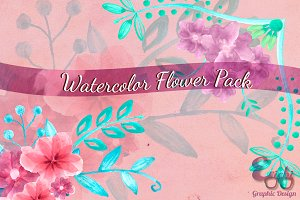 Watercolor Flower Pack
