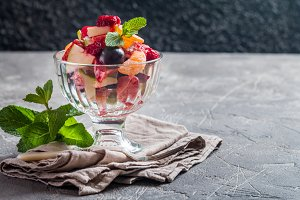 Sweet healthy fruit salad