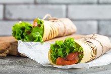 fresh tortilla wrap