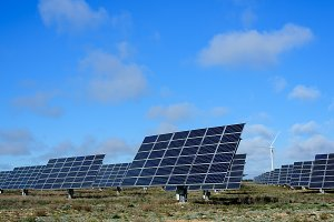 Photovoltaic and wind farm