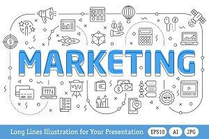 Lines Illustration Marketing
