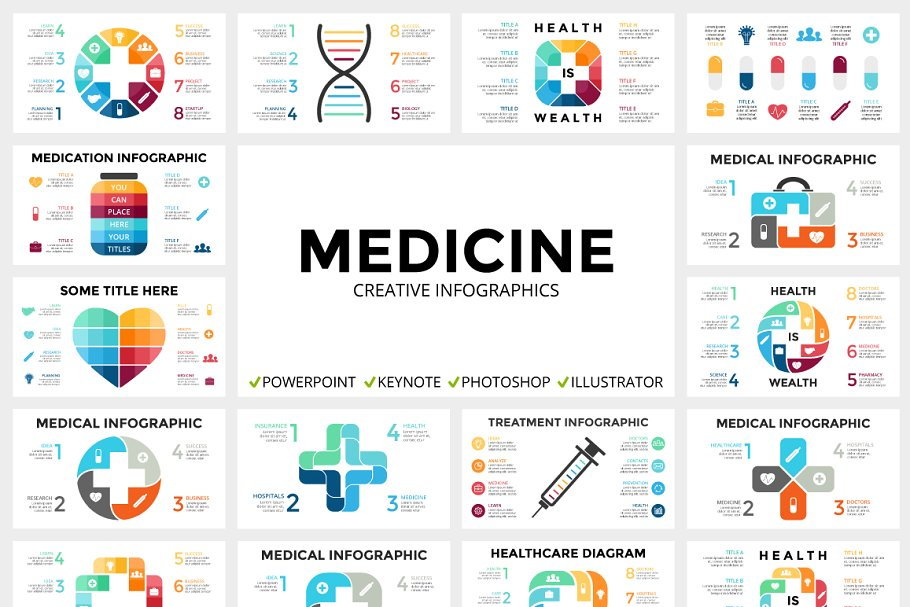 Medical Infographic  PPT KEY PSD EPS