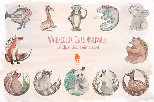 Watercolor Cute Animals