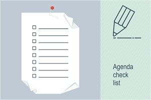 Agenda check list