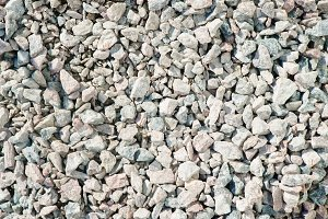 Fine and coarse gravel as background