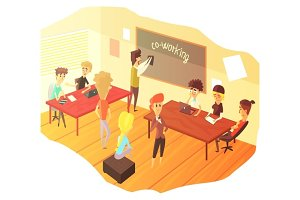 Co-working And Teamwork Class