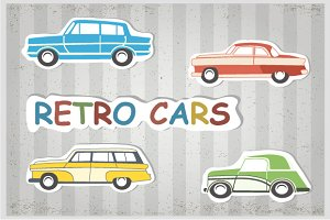 Retro cars and trains