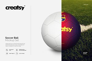 Soccer Ball Mockup Set