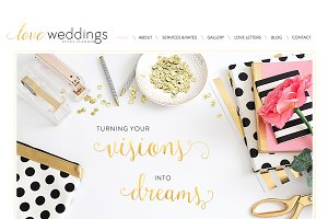 Wix Wedding Planner Website Template