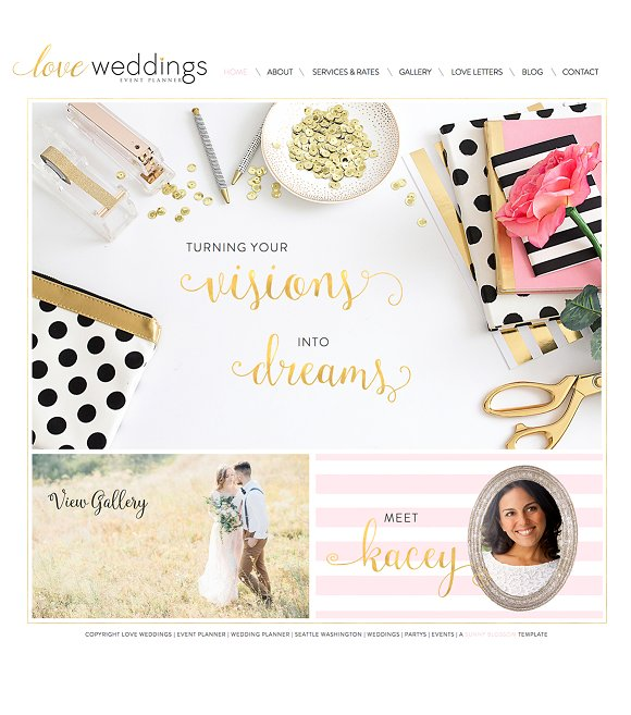 Wix wedding planner website template website templates Planner websites