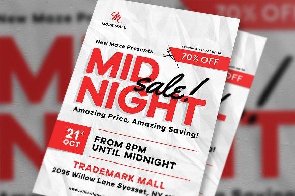 Midnight Sale Flyer