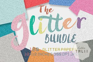 Glitter Bundle- 120 glitter papers