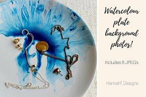 Watercolor plates