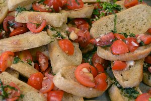 Bruschetta with Grape Tomatoes