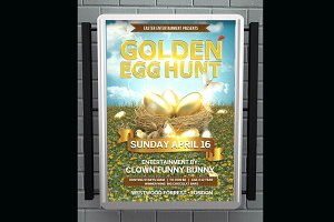 Golden Egg Hunt Flyer