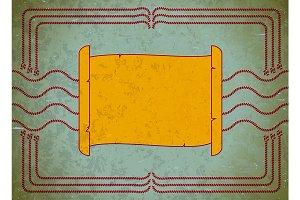 Nautic scroll frame