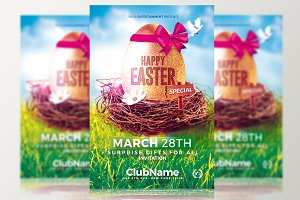 Happy Easter - Psd Flyer Template